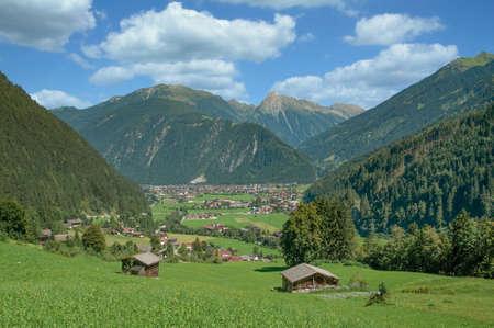 view to Mayrhofen in Zillertal,Tirol,Austria
