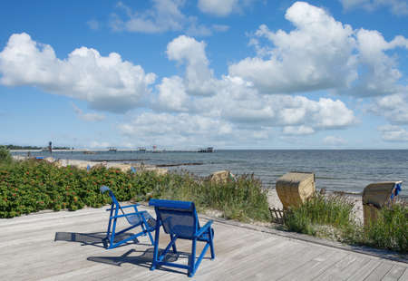Beach in Kellenhusen at baltic Sea,Schleswig-Holstein,Germany