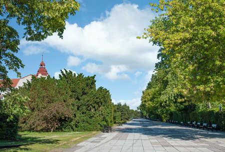 Promenade of Swinoujscie or Swinemuende,baltic Sea,Poland