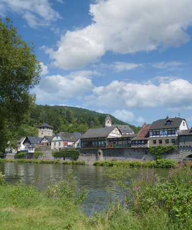 medieval Village of Dausenau at Lahn River,Westerwald,Rhineland-Palatinate,Germany