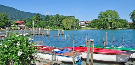 Waterfront of Bad Wiessee at Lake Tegernsee,upper Bavaria,Germany