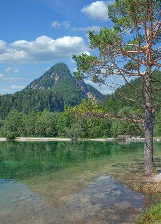 Lake Jasna in Triglav National Park,Slovenia Standard-Bild