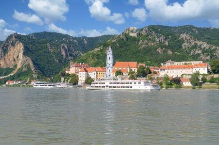 Village of Duernstein ,Danube River,Wachau Valley,lower Austria Standard-Bild
