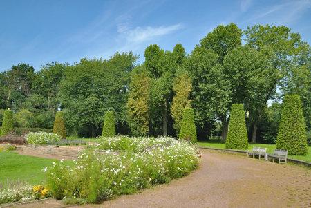 Park called Nordpark in Duesseldorf,North Rhine westphalia,Germany