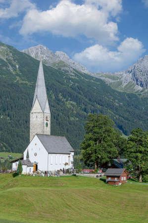 Village of Mittelberg ,Kleinwalsertal,Vorarlberg,Austria