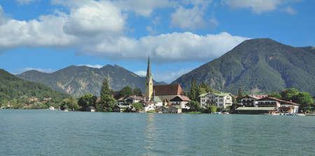 Village of Rottach-Egern at Lake Tegernsee,upper Bavaria,Germany