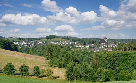 Village of Frielingsdorf near Lindlar in Bergisches Land,Germany