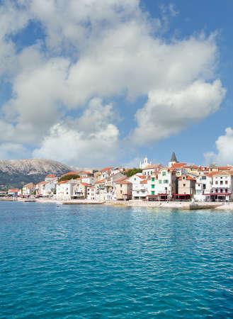 Village of Baska on Krk Island,adriatic Sea,Croatia Standard-Bild