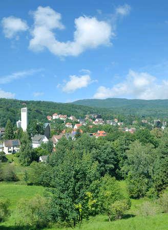 Health Resort of Bad Sachsa,Harz,Germany Standard-Bild