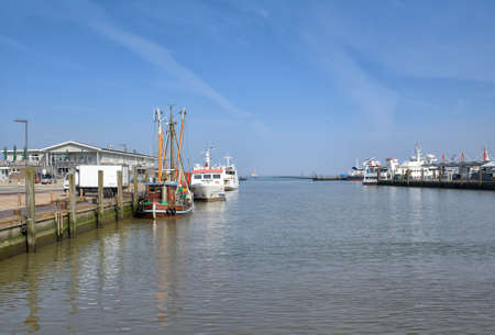 Harbor of Harlesiel,Carolinensiel,East Frisia,North sea,lower saxony,Germany Standard-Bild