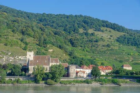 Sankt Michael Church in Weissenkirchen,Danube River,Wachau Valley,lower Austria
