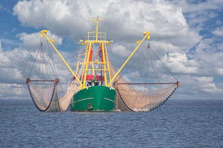 Shrimp Boat at North Sea,North Frisia,Germany