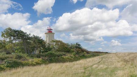 Lighthouse of Westermarkelsdorf on Fehmarn,baltic Sea,Schleswig-Holstein,Germany