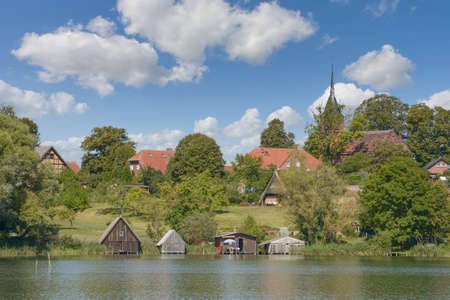Village of Wustrow in Mecklenburg Lake District,Germany