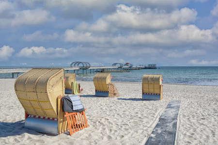 Beach and Pier of Kellenhusen,baltic Sea,Schleswig-Holstein,Germany