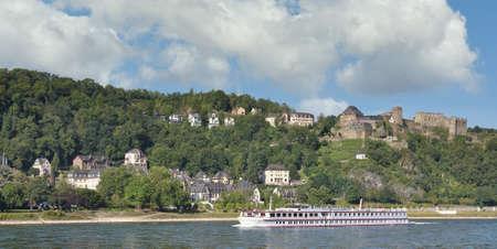 Village of Sankt Goar at Rhine River,Rhineland-Palatinate,Germany Standard-Bild