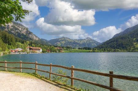 Footpath at Lake Haldensee,Tannheimer Tal,Tirol,Austria Standard-Bild