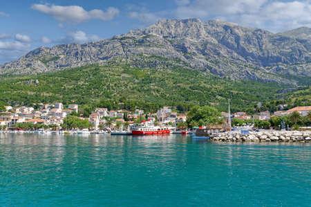 Village of Baska Voda,Makarska Riviera,adriatic Sea,Dalmatia region,Croatia Stock fotó