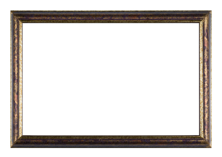 Hand-painted wooden picture frame painted colorful on white background Reklamní fotografie