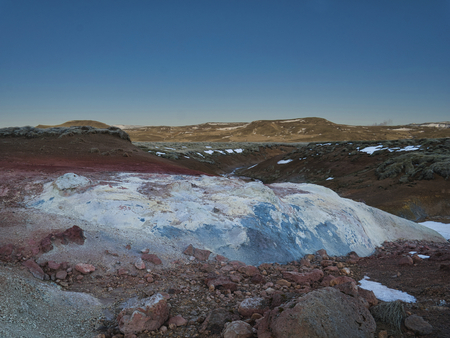 Extreme colours and shapes in the Seltun geothermal region