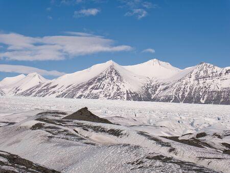 A glacier hike on the J?kulsarlon glacier in Iceland Stock Photo