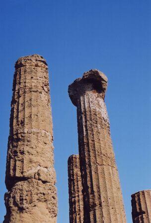 Pillars with Blue Sky Stock Photo