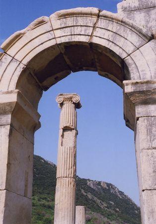 Pillar under Arch