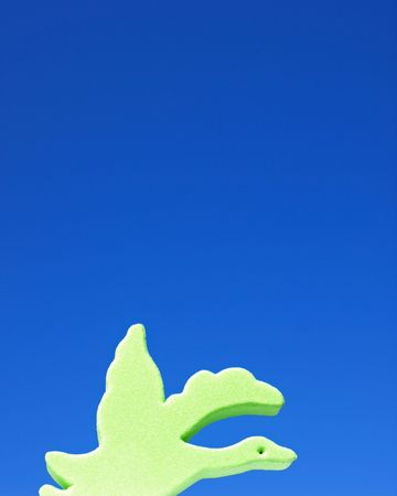 Whimsical bird vertical photo