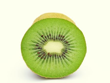 Single green kiwi slice