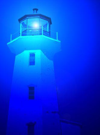 guiding light: Blue Lighthouse