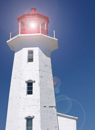 guiding light: Lighthouse with light    Stock Photo