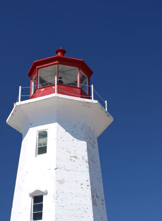Top half of lighthouse Stock Photo
