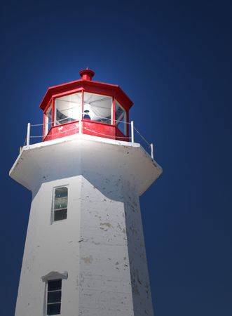 Top of lighthouse with light