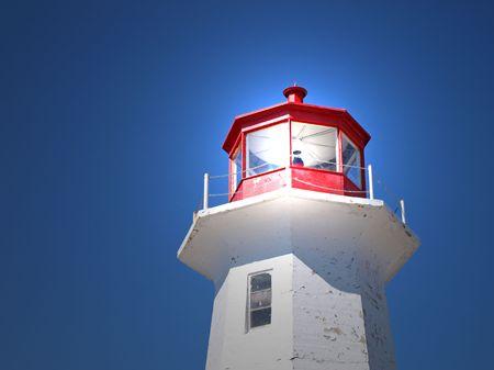 光との権利の上の灯台