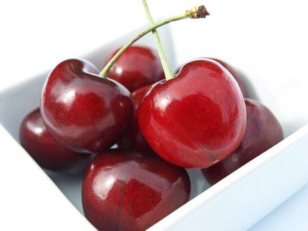 Cherries in dish