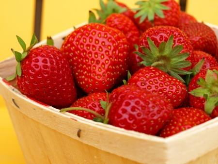 Basket of berries      Stock Photo
