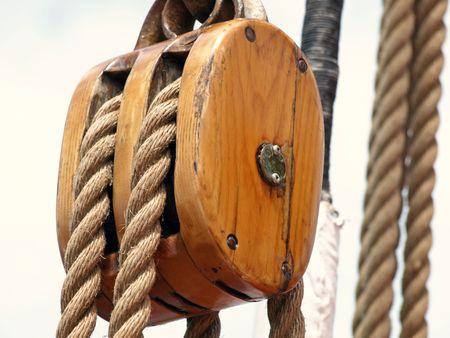 木製のリギング 写真素材 - 5255124