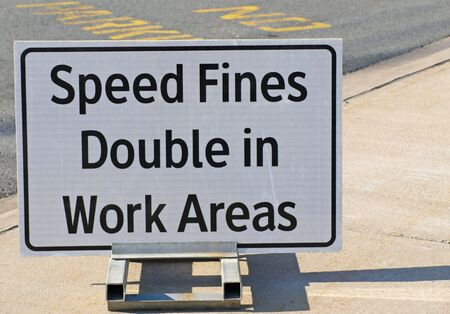 Speed Fines Sign    Stock Photo
