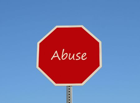 Stop sign Abuse Stock Photo