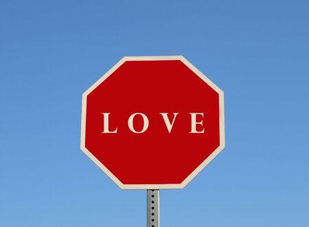 愛サイン 写真素材