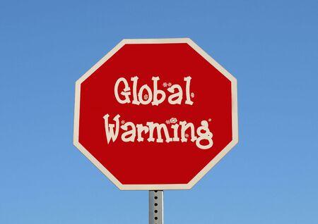 ストップ地球温暖化 (雪) 写真素材