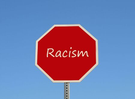 racisme: Racisme stoppen Stockfoto