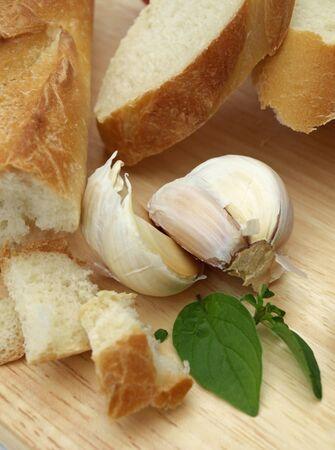 パン、ニンニク. 写真素材
