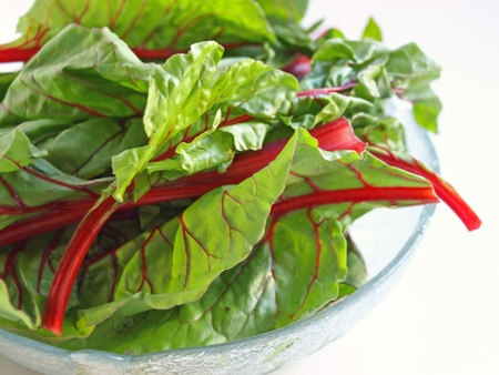 Chard in bowl hor