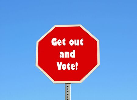 vote: Get out and vote Stock Photo