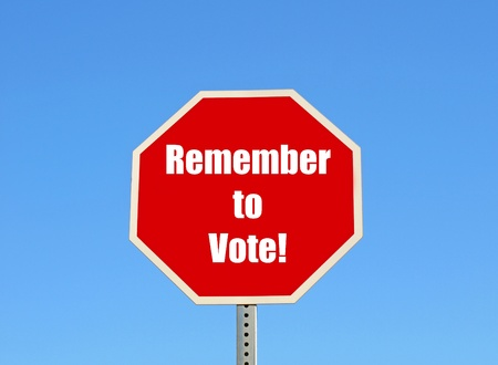 Remember to vote Stock Photo - 9421504