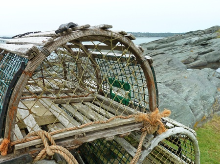 Lobster traps up close
