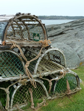 lobster pot: Lobster traps