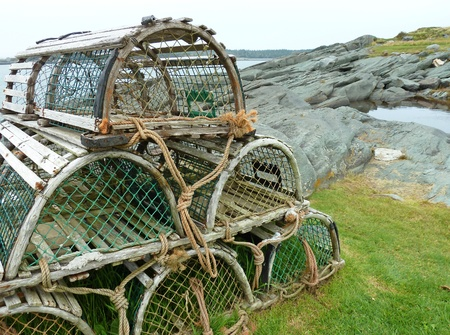 Lobster traps Stock Photo - 10518314