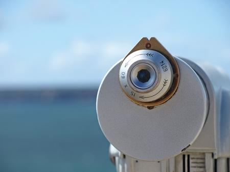 海とカボ デ サグレス、ポルトガルに崖を見て光学ファインダー